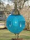 Vintage Turquoise Swag Lamp Type Hanging Ceiling Fixture Light w Pull Chain