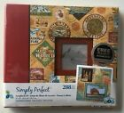 NEW atd Simply Perfect Travel Scrapbook Kit 8X8 288 Piece Album Paper Stickers