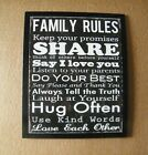 FAMILY RULES Share LOVE Laugh Hug Be Kind Do Best Inspirational wood decor sign