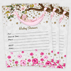 20 Girl Baby Shower Invitations Girls Cards Invites Decorations