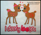 I deerly Love you Premade Paper piecing set  by scrappintoday