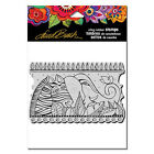 Stampendous Cling Rubber Stamp by artist Laurel Burch Rainbow Safari