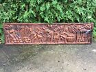 Large Antique African Wood Folk Carving Sculpture Wall Hanging