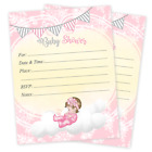 20 Baby Shower Invitations Cards Invites Decorations  Envelopes Baby Girl