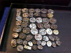 mixed lot of 1010's-50's wristwatch movements for parts steampunk Alt art