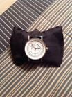 DKNY WOMENS WATCH BLACK LEATHER BAND