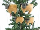 Primitive Handcrafted Sheep Ornies* Bowl Fillers* Christmas Tree Ornaments Set/4
