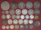 LOT OF OVER 30 TYPE COINS SOME LOWER GRADE SOME DAMAGED A FEW NICE ONES