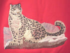 Embroidered Long Sleeved T Shirt Snow Leopard M2110 Sizes S XXL