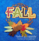 Fall Title Premade Paper piecing set  by scrappintoday
