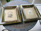 2 ANTIQUE VICTORIAN EASTLAKE SHADOW BOX ORNATE PICTURE FRAMES 13 1/2