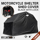Heavy Duty Large Motorcycle Shelter Shed Cover Storage Tent Stable No Seam Black