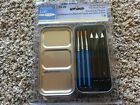 Acrylic Synthetic Hair Brush Tin Set By Artists Loft 531945 NEW