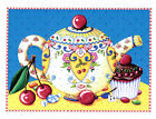 Mary Engelbreit CHERRY TEAPOT CHOCOLATE CUPCAKE Greeting Card NEW