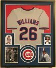 Billy Williams Autographed Custom Framed Chicago Cubs Grey Jersey JSA COA