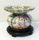 Antique 19th Century Chinese Rose Medallion Porcelain Spittoon ~ Free Shipping