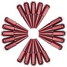 Red Extended Spike Lug Nuts 1 2 20 RH SAE 20 Pcs for 1987 1995 Jeep Wrangler YJ