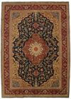 Amazing Unusual Tree of Life Signed Blue Persian Rug Oriental Area Carpet 8X11