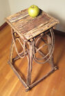 Authentic Adirondack Twig Side Table Hand Crafted w/Tree Branches Folk
