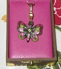 Jay Strongwater Enameled Butterfly Charm or Pendant with Swarovski Crystals