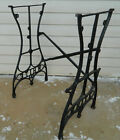 Antique Cast Iron White Sewing Machine Age Base Legs Base Industrial Steampunk