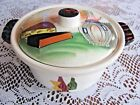 Vintage Capri Royal Sealy Hand Painted Individual Casserole Dish Wine And Cheese