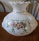 LARGE ANTIQUE HURRICANE GONE WITH THE WIND LAMP SHADE Embossed Milk Glass
