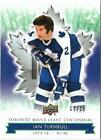 2017 UD TORONTO MAPLE LEAFS CENTENNIAL IAN TURNBULL GREEN PARALLEL 17 25