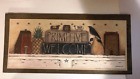 PRIMITIVE WELCOME saltbox house pineapple sheep crow wood rustic vintage sign