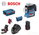 BOSCH GLL 3-80C + BM1 Self Levelling 360 Degree Cross Multi Line Laser Level