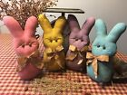 Prim* Hand-crafted* Grubby* X-LG Pastel Bunnies* Shelf Sitters* Ornies* Easter