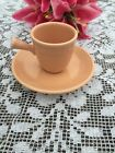 FIESTA NEW APRICOT Stick-Handled A.D. Cup with Saucer Fiestaware