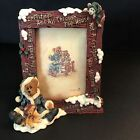 Boyds Bear Edmund the Night Before Christmas Picture Frame Holiday Decor Santa