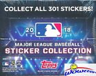 2018 Topps Baseball Stickers MASSIVE Factory Sealed 50 Pack Box-400 Stickers !!