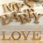 10x15cm thick Wood Wooden Letters Alphabet Wedding Birthday Home Decor WOUS