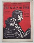 RARE Vintage Brochure Grand Prix Cannes Film Festival 1953 The Wages Of Fear