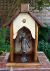 Handmade Recycled Antique Heartwood Pine Collectible Angel Creche
