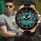 Men's Digital Sports Watch LED Large Face Military Stopwatch Alarm Wristwatch US