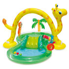 Summer Waves Inflatable Jungle Animal Kiddie Swimming Pool Play Center w Slide