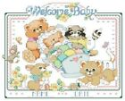 Welcome Baby Birth Announcement Cross Stitch Pattern