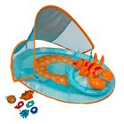 SwimWays Inflatable Baby Spring Lobster Pool Float Activity Center with Canopy