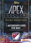2015 Topps Apex MLS Soccer EXCLUSIVE Factory Sealed 16 Box CASE-16 AUTOGRAPHS!