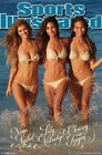 SPORTS ILLUSTRATED ~ TRIPLE GOLD 22x34 POSTER Swimsuit Nina Agdal Chrissy Tiegen