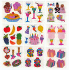 Vintage Sandylion Pearly Pearl Opal MOP Food Candy Party Stickers You Choose