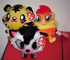 Ty Beanie Baby Set ~ WHITE FANG, COOLIO & JEEPERS (Moshi Monsters) UK Excl MWMTS