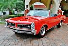 1966 Pontiac GTO Convertible Fully Restored 4 Speed w Bucket Seats Power Steering