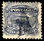 Sc 114 Grill STAR Fancy Cancel 1869 Pictorial 3 Cent Early US Stamps 55p32