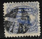 Sc 114 Grill Fancy Cancel 1869 Pictorial 3 Cent Locomotive US Stamp 8878