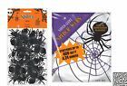 Super Giant White Polyester Spider Webs and 28 ct Big Pack of Plastic Spider