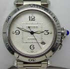 Cartier Pasha Stainless Steel 38mm Automatic Ref2378 Exibition Back Watch, Mint!